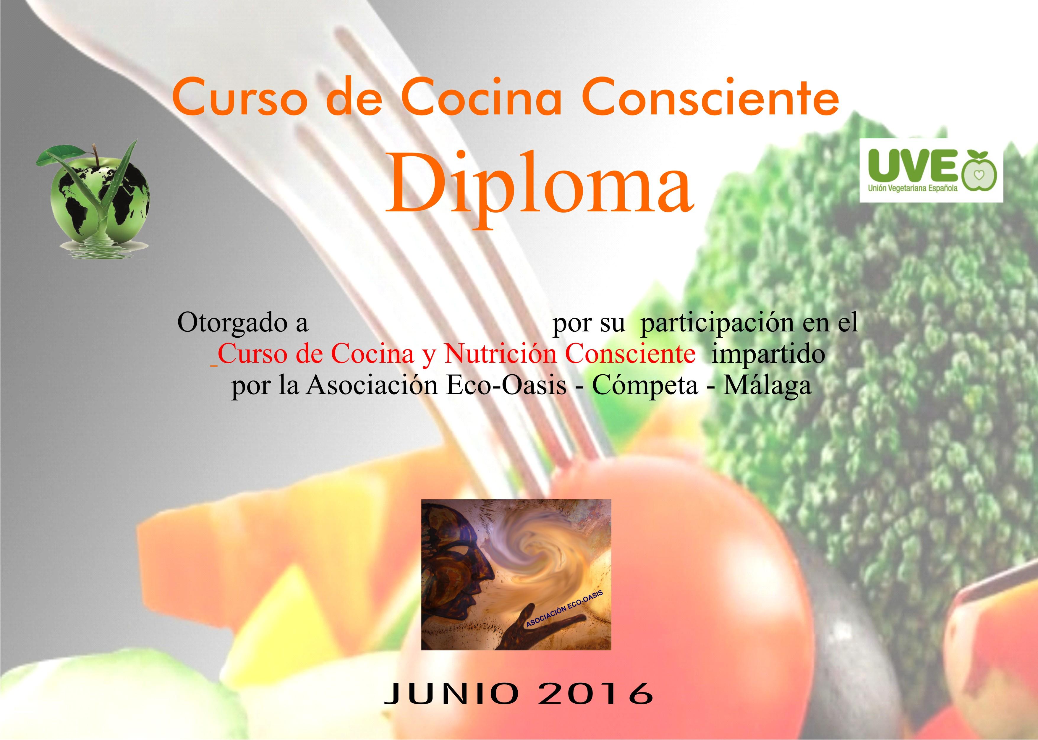 Diploma tipo nuevo eco oasis - Curso de cocina vegetariana ...